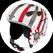 white-red-grey stripes