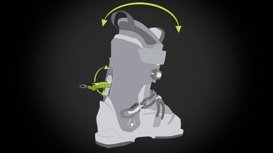 -SKI   HIKE MECHANISM - Нова вдосконалена система «ходьба   катання»  поєднує в собі діапазон налаштувань для комфортного підйому в гору (Hike-mode)  і для ... 92b95f971c86e